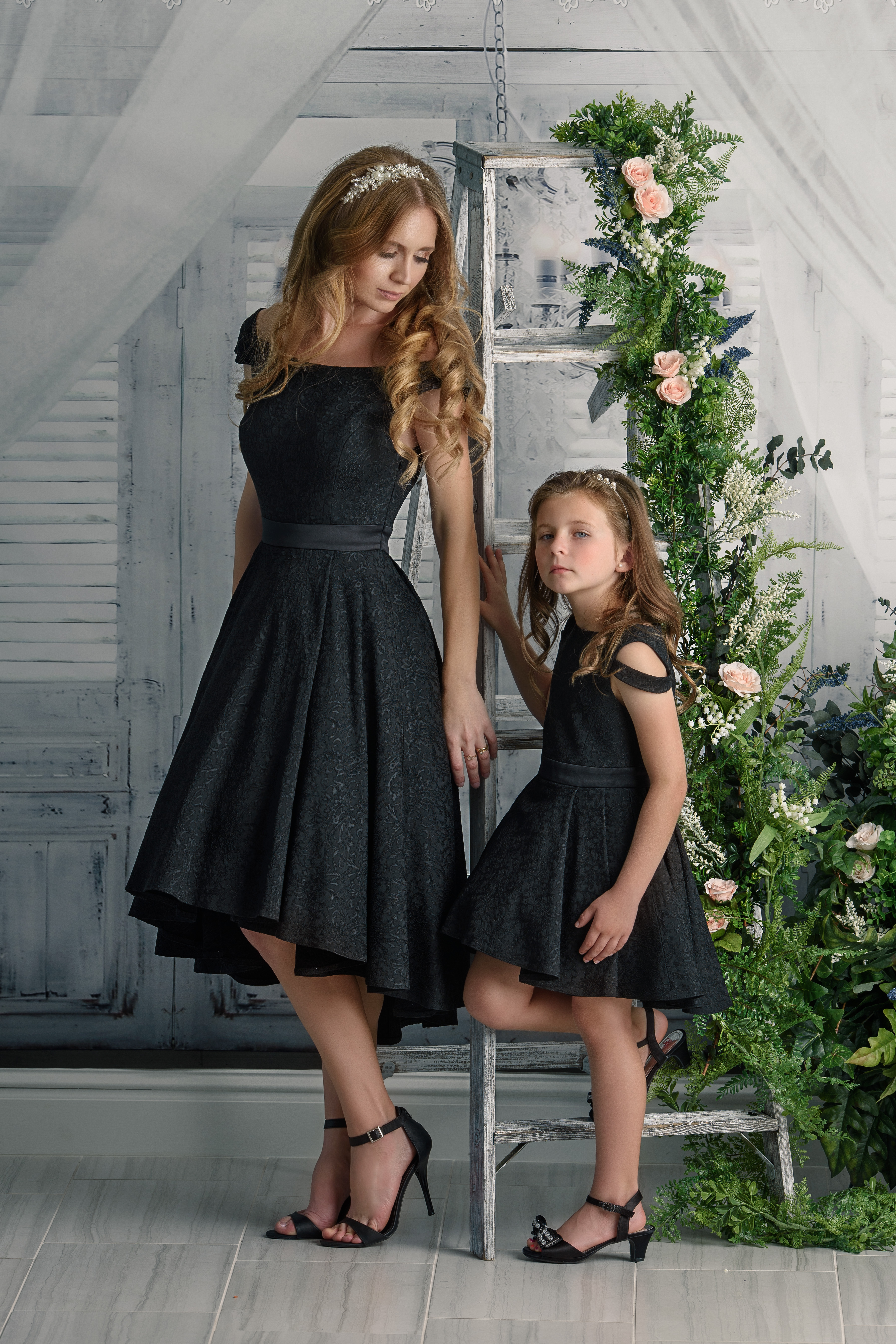 5d37cf7edc5e2 First Glimpse of Winter Night ~ Mommy & Me Dress Set - Elzoria