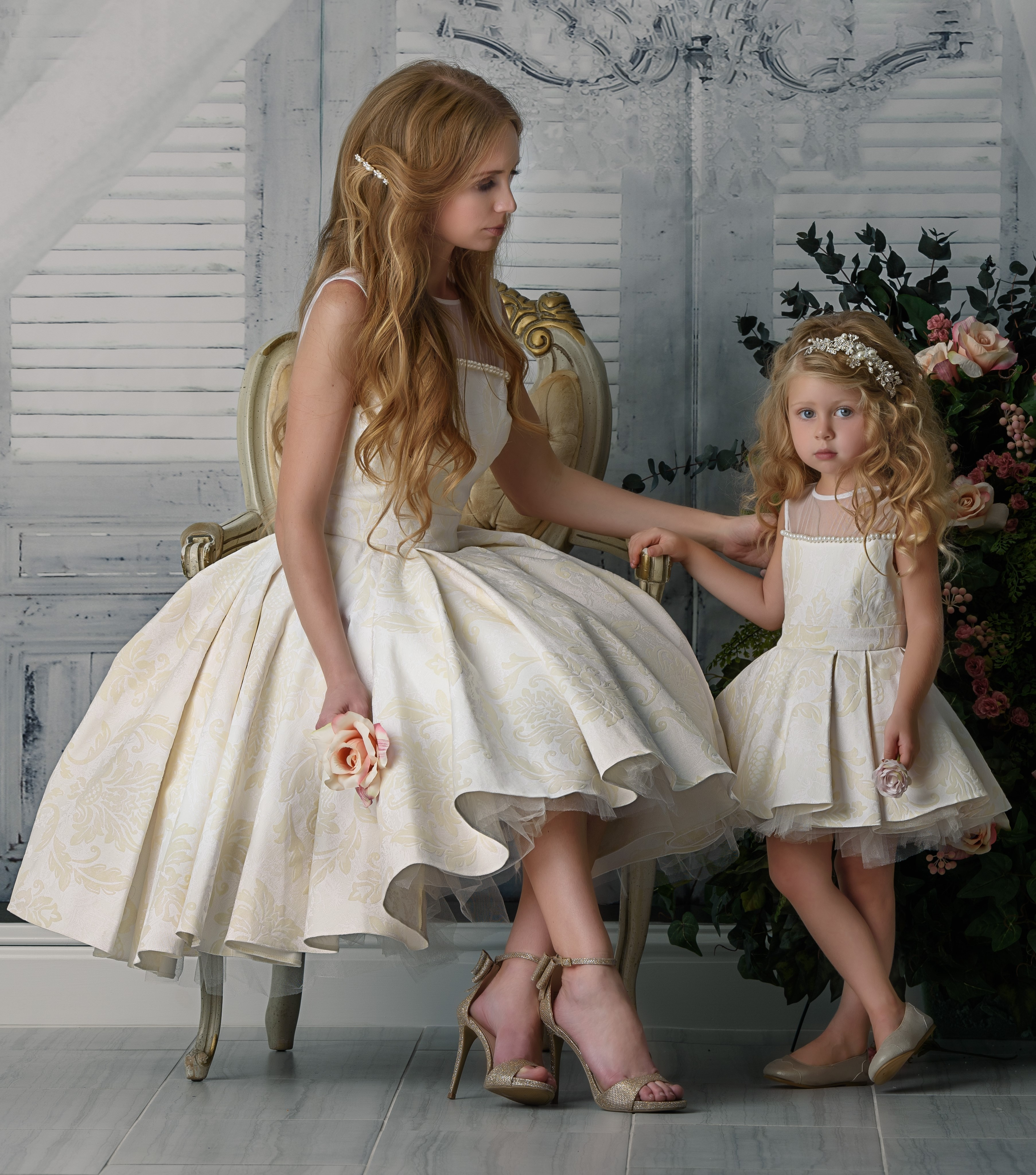 russian royalty  mommy  me dress set  elzoria